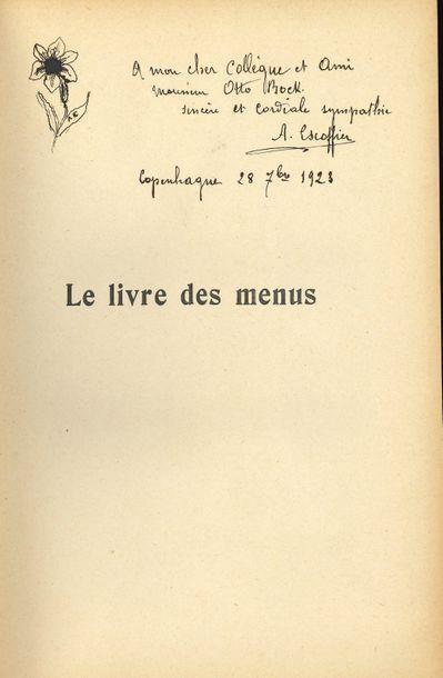 Auguste Escoffier (1846-1935) cuisinier....