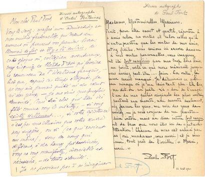 [Paul FORT]. 28 manuscrits, lettres ou pièces,...