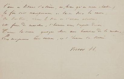 Victor Hugo (1802-1885). Poème autographe...