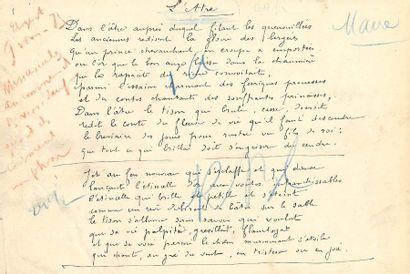 Gustave KAHN (1859-1936). Manuscrit autographe...