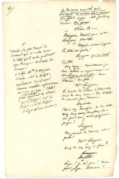 Eugène LABICHE. Manuscrit d'Édouard Martin...