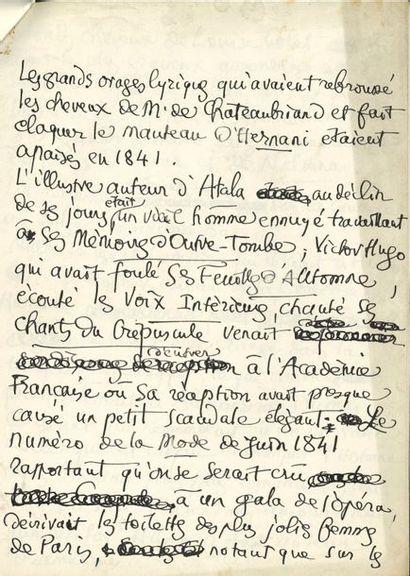 Léo LARGUIER (1878-1950). Manuscrit autographe...