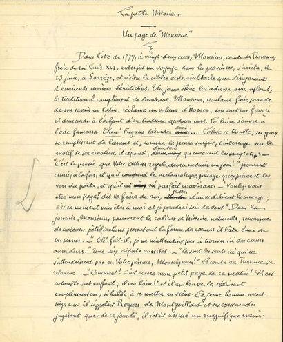 Gosselin LENOTRE (1857-1935) historien. Manuscrit...