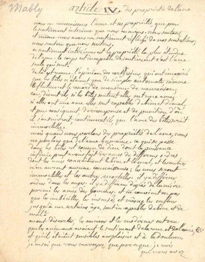 Gabriel Bonnot, abbé de MABLY (1709-1785)...