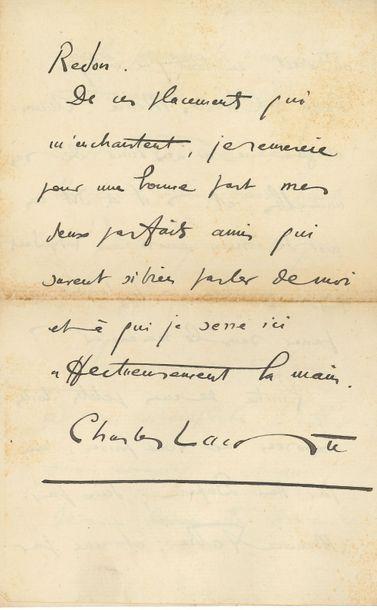 Charles Lacoste (1870-1959). L.A.S., [Paris]...
