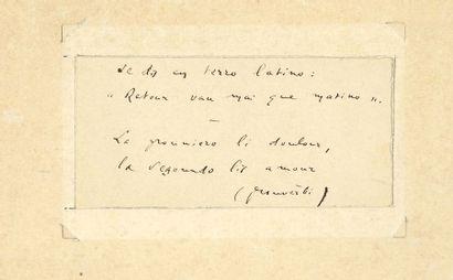 Frédéric MISTRAL (1830-1914). P.A.; 1page...
