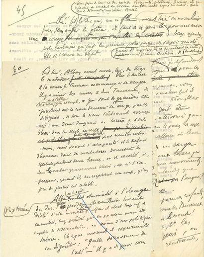 Henry de MONTHERLANT (1896-1972). Manuscrit...