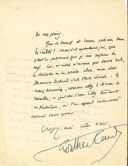 Henry de MONTHERLANT (1896-1972). 6 L.A.S.,...