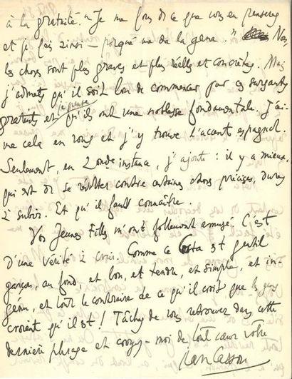 Henry de MONTHERLANT. 37 L.A.S. à lui adressées,...