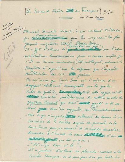 Steve PASSEUR (1899-1966) auteur dramatique....