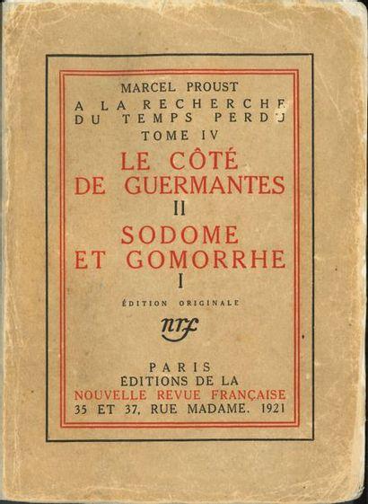 Marcel Proust. A la recherche du Temps perdu....