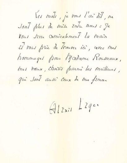 Alexis Léger, dit SAINT-JOHN PERSE (1887-1975)....