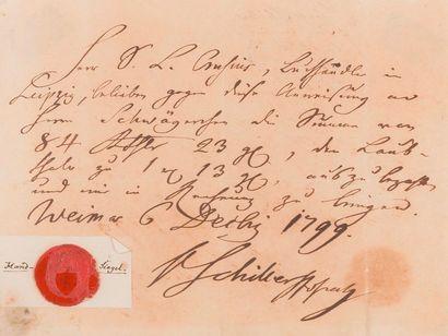 Friedrich von SCHILLER (1759-1805). P.A.S....