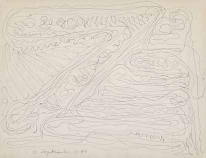 Philippe SOUPAULT (1897-1990). Dessin original...
