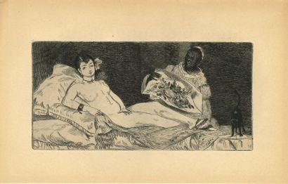 Émile ZOLA (1840-1902). Éd. Manet. Étude...
