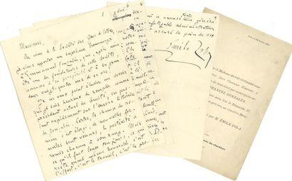 Émile ZOLA. Manuscrit autographe signé d'un...