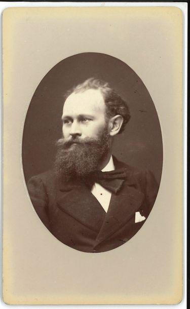 Édouard MANET (1832-1883). Photographie avec dédicace autographe signée; format...