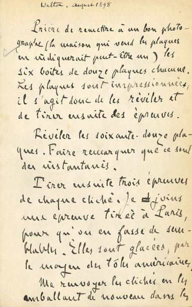 Émile Zola. L.A., [Walton on Thames août...