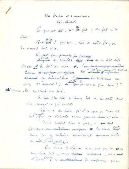 Jacques LACAN (1901-1981) psychiatre et psychanalyste....