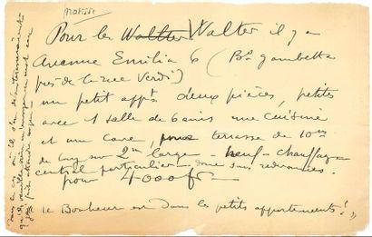 Henri MATISSE (1869-1954). L.A., [à Marguerite...