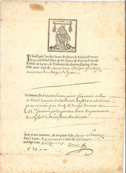 Médecine. 4 P.S. et 4 imprimés, 1664-1792....