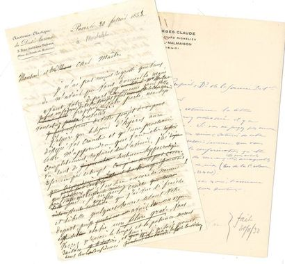 Sciences et DIVERS. 22 lettres ou pièces,...