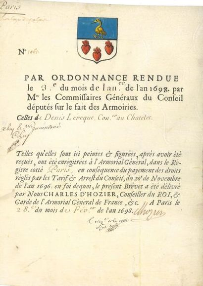 Ancien régime. Environ 70 pièces, XVIIe-XVIIIe...