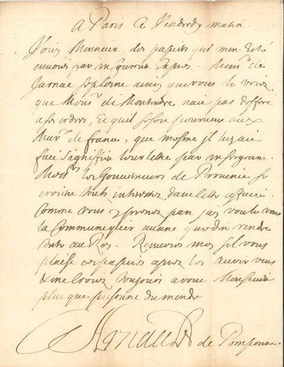 Simon ARNAULD DE POMPONNE (1618-1699) diplomate,...