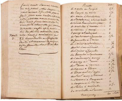 Bretagne. Cahier manuscrit, Journal de mes...