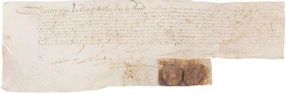 Charles IX (1550-1574) Roi de France. Charte...