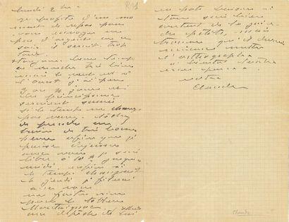 Claude Monet (1840-1926). L.A.S. «Claude»,...