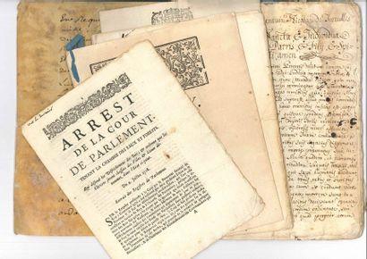 DIVERS. 4 imprimés et 2 manuscrits, XVIIIe...