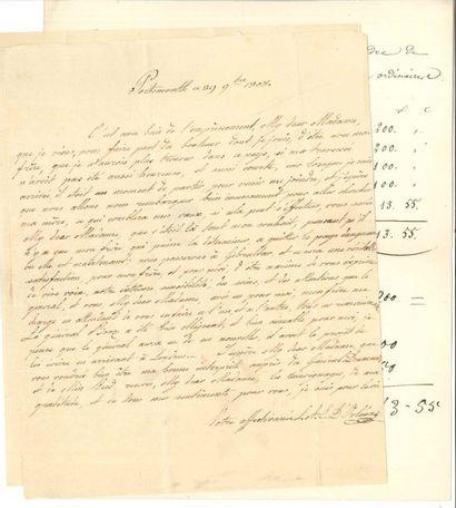 DIVERS. 8 lettres ou documents. Adélaïde...