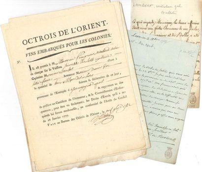 Divers. Plus de 30 documents manuscrits,...