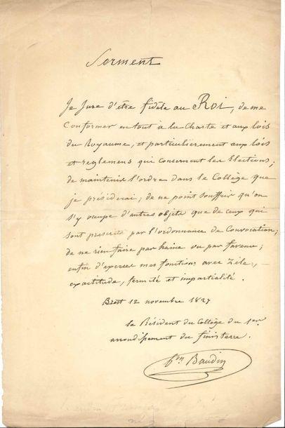 Divers. 4 L.A.S. Damien de MARTEL (1607-1681,...