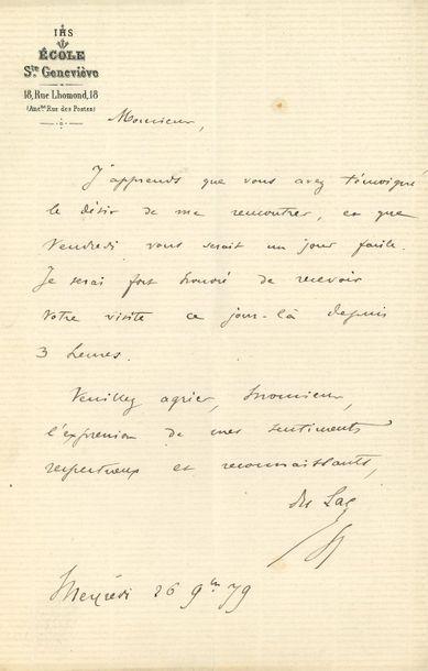 Stanislas DU LAC (1835-1909) Jésuite, fondateur...