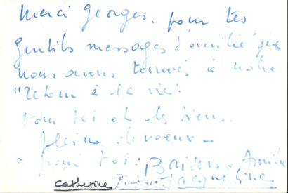 Pablo PICASSO (1881-1973). L.S., au bas d'une L.A.S. de sa femme Jacqueline, [à...