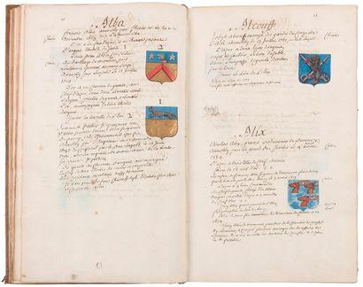Lorraine et bar. Manuscrit, Nobiliaire de...