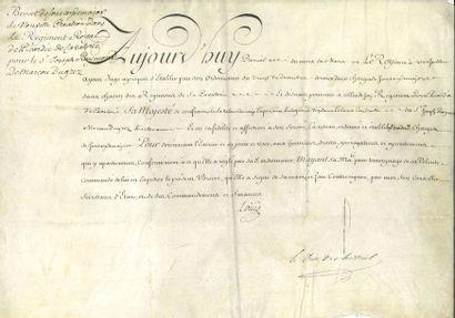 Louis XV (1710-1774) Roi de France. P.S....