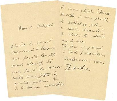 Henri de Toulouse-Lautrec (1864-1901). L.A.S., [juin 1895], à Lucien Muhlfeld;...