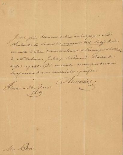 Clemens, prince de METTERNICH (1773-1859)...