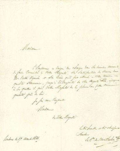 Charles Tristan, comte de MONTHOLON (1783-1853)...