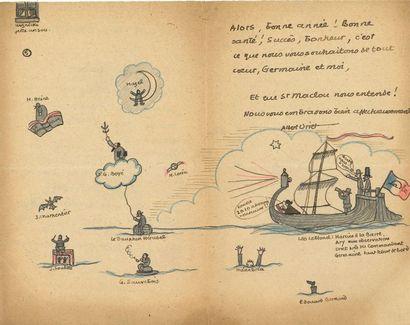 Albert Uriet (1889-1954) peintre, dessinateur, illustrateur et écrivain. 2 L.A.S....