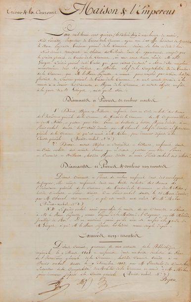 [Napoléon Ier]. trésor de la couronne. 2...