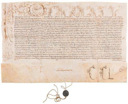 Camillo Borghese, PAUL V. Bulle manuscrite en son nom, Rome à Sainte-Marie-Majeure...