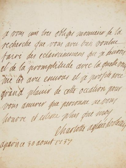 PRINCESSES. 6 L.A.S. et une L.S. Maria-Fortunata d'Este, princesse de CONTI (1731-1803):...