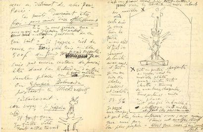 Émile-Antoine BOURDELLE (1861-1929). 8 L.A.S. et 1 L.A., la plupart avec dessin...