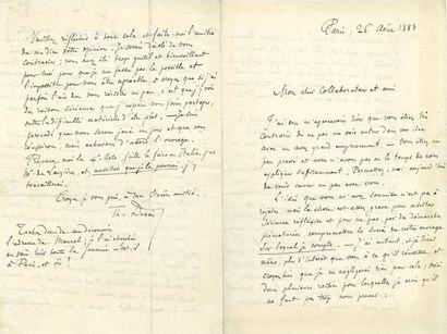 Théodore DUBOIS (1837-1924). 24 L.A.S., Paris...
