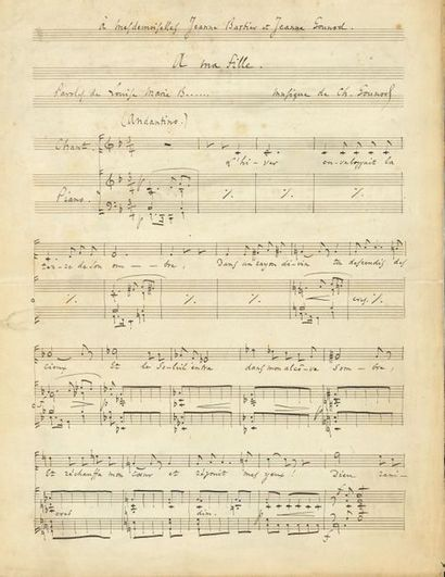 Charles GOUNOD. Manuscrit musical autographe...