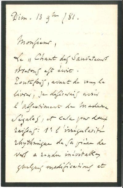 Charles GOUNOD (1818-1893). L.A.S., Paris...
